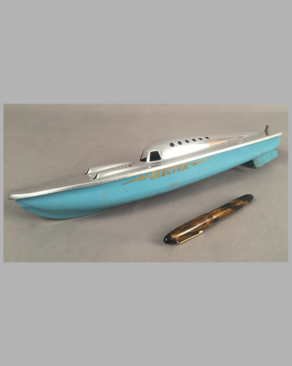 Electra speed boat model, England late 1940's