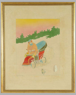 En Auto multicolor lithograph by Singil