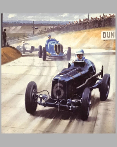 Raymond Mays in the E.R.A. R4D at Brooklands by Roy Nockolds 2