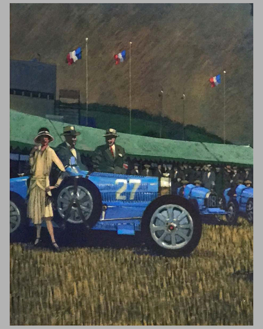 """Ettore Bugatti"" Acrylic Painting on Canvas by Barry Rowe 2"