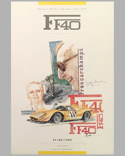 Two F40 posters by Chuck Queener, Autographed by Jacques Swaters 2