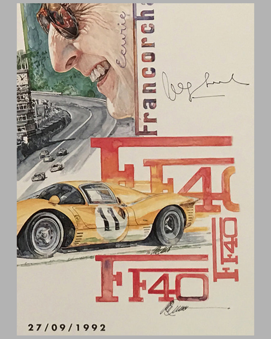 Two F40 posters by Chuck Queener, Autographed by Jacques Swaters 3