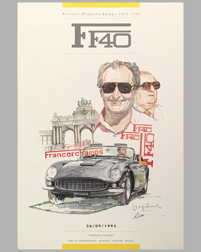 Two F40 posters by Chuck Queener, Autographed by Jacques Swaters 5