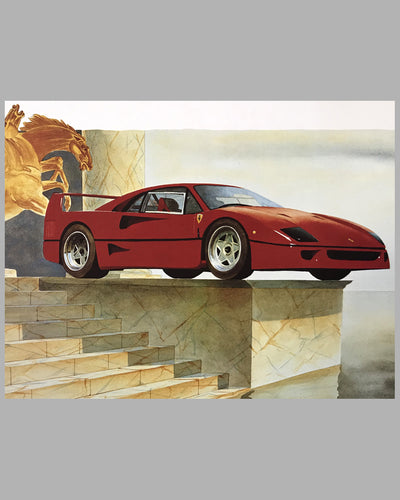 F40 Lithograph by Alain Mirgalet 2
