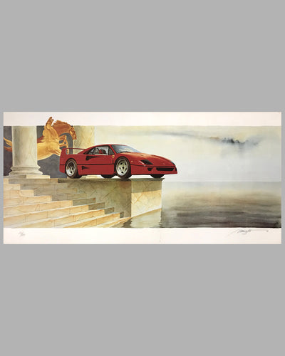 F40 Lithograph by Alain Mirgalet