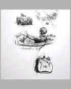 Fangio Montage print by Michael Turner 2