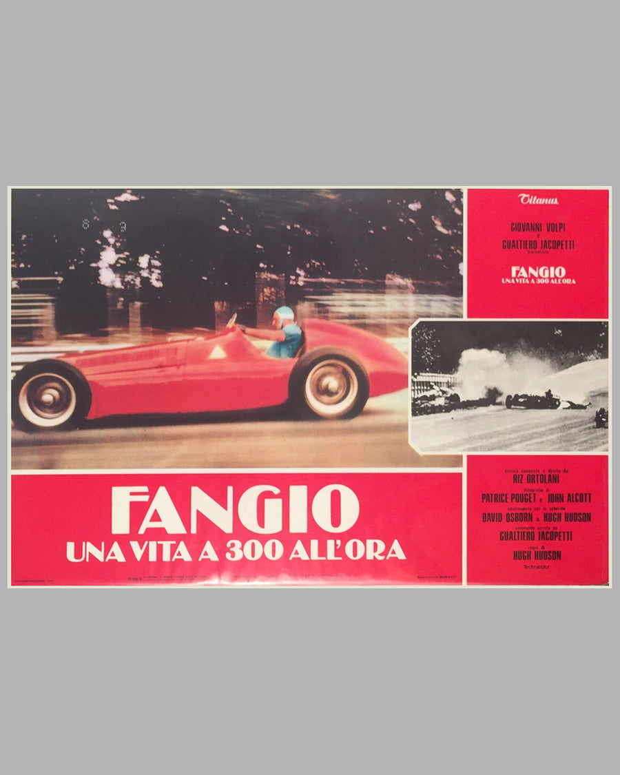 Fangio Una Vita a 300 All'ora collection of 8 lobby movie posters 2
