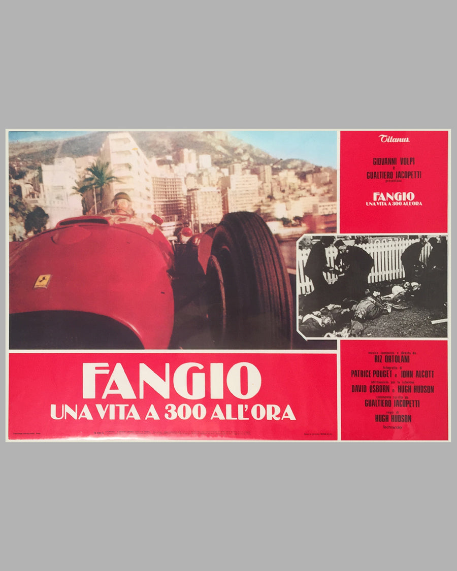Fangio Una Vita a 300 All'ora collection of 8 lobby movie posters 4