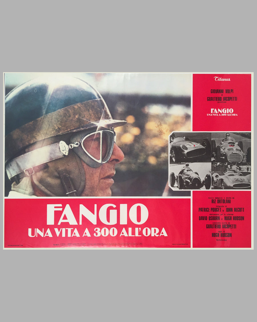 Fangio Una Vita a 300 All'ora collection of 8 lobby movie posters 7