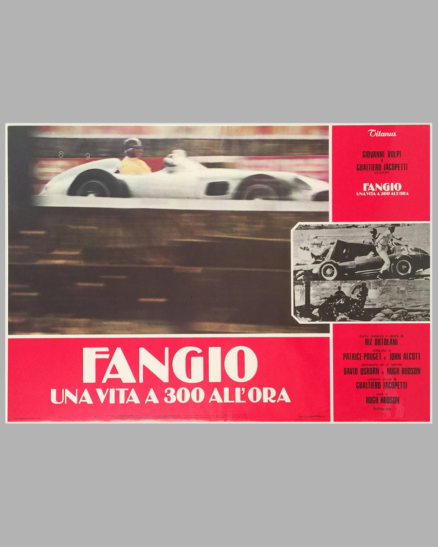 Fangio Una Vita a 300 All'ora collection of 8 lobby movie posters 8