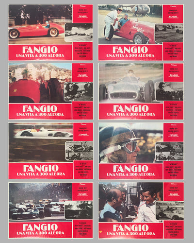 Fangio Una Vita a 300 All'ora collection of 8 lobby movie posters