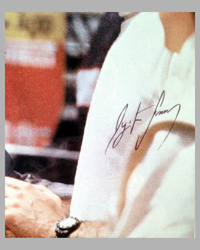 Fangio and Ayrton Senna at the 1989 Monaco GP, Autographed by Juan Manuel Fangio & Ayrton Senna