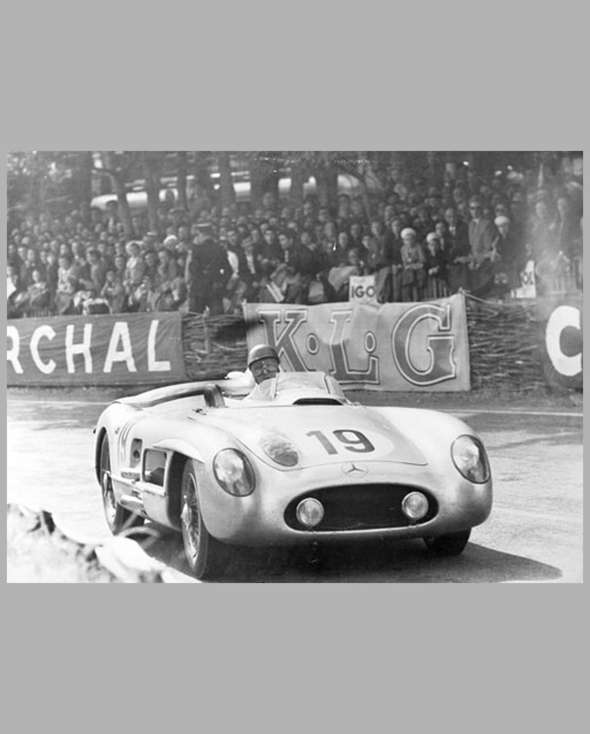 Fangio's Mercedes 300 SLR, 1955 Le Mans photo
