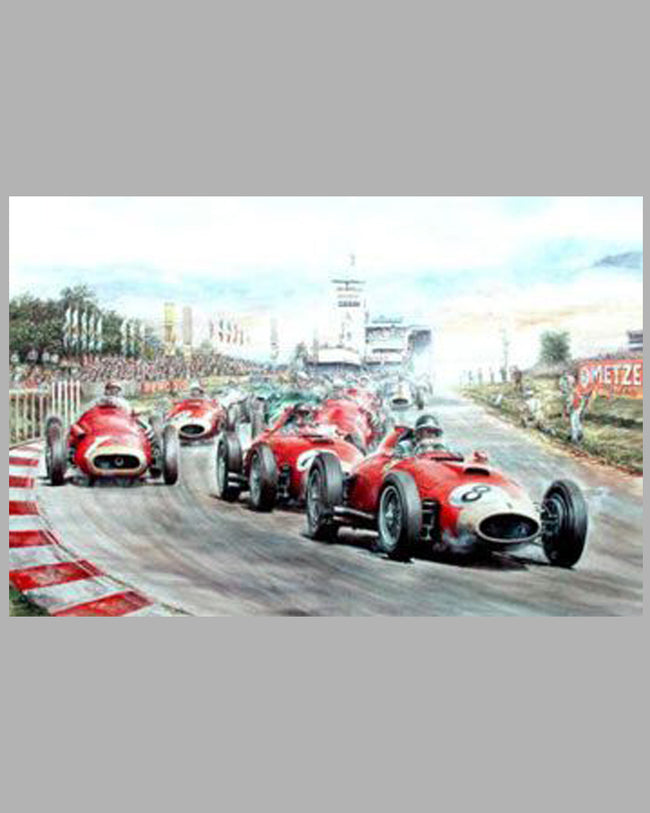 Fangio's Greatest Drive gicleé on canvas