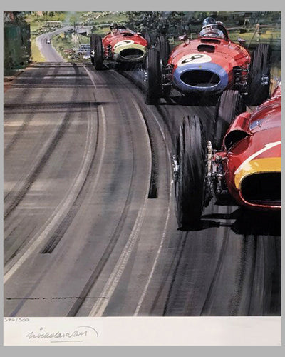 Fangio - The Maestro print by Nicholas Watts, autographed by Juan Manuel Fangio 2