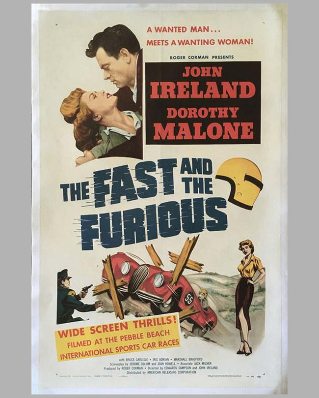 'The Fast & The Furious' original movie poster 1954