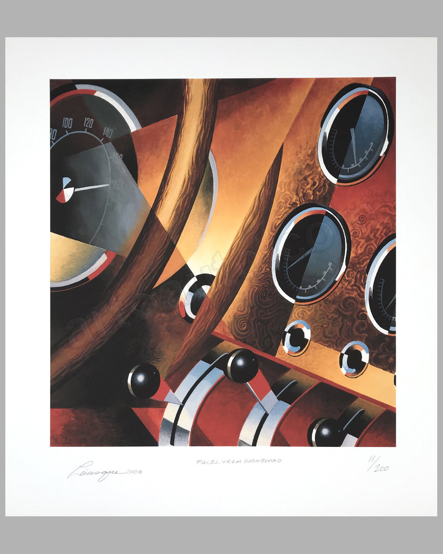 Facel Vega Dashboard giclée by Alain Lévesque