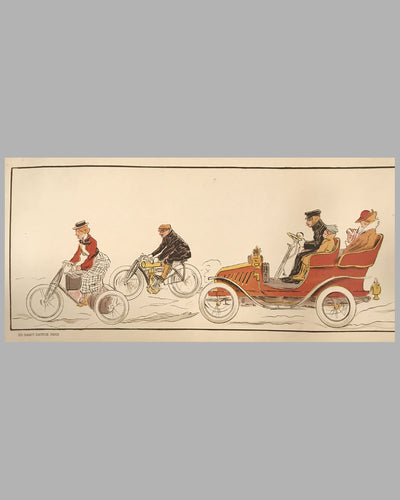 Early 1900's French lithograph by Fernel 3