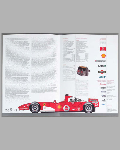 Ferrari 248 F1 Press Brochure inside