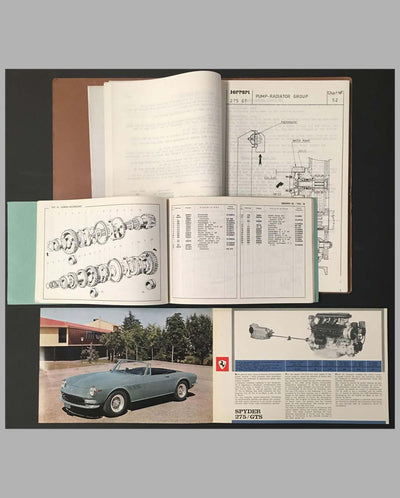 Three Ferrari 275 Granturismo Spyder original factory publications interior