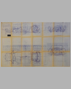 Ferrari 308 GTB factory original blueprint