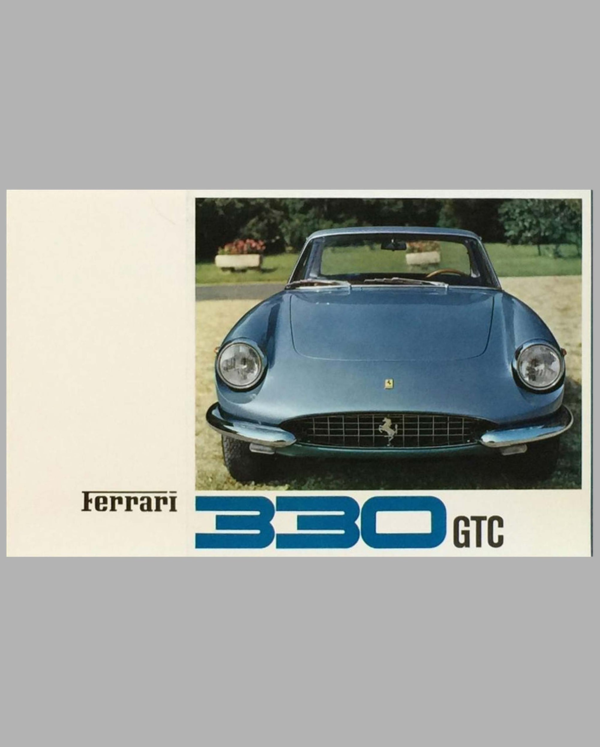 Ferrari 330 GTC original factory brochure