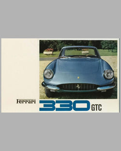 Ferrari 330 GTC original factory brochure, Cover