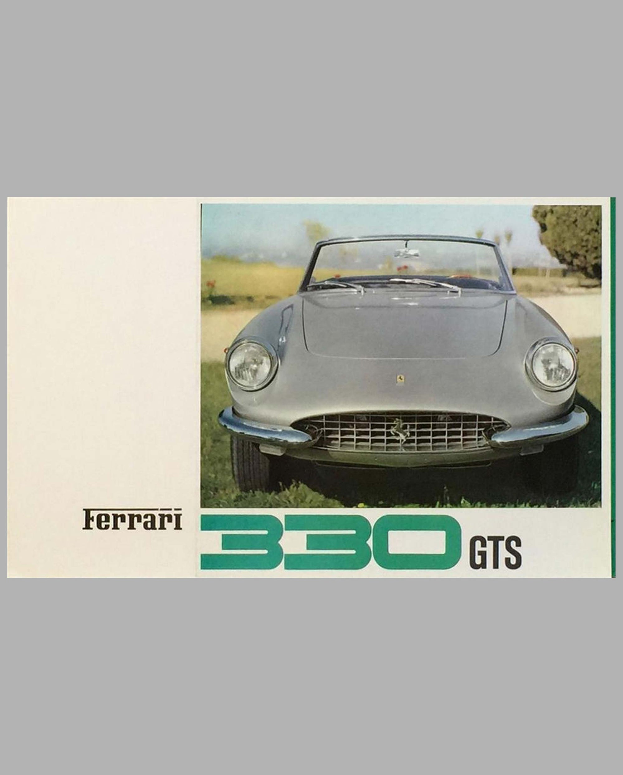 Ferrari 330 GTS original factory sales brochure