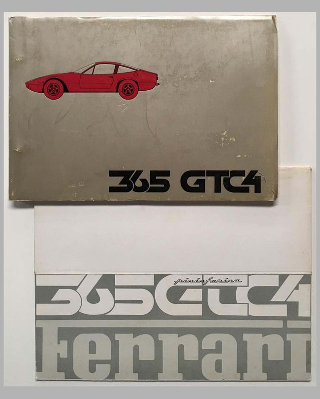 Ferrari 365 GTC4 original factory brochure and parts manual cover