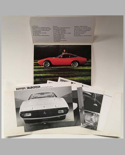 Ferrari 365 GTC4 original factory brochure and parts manual interior