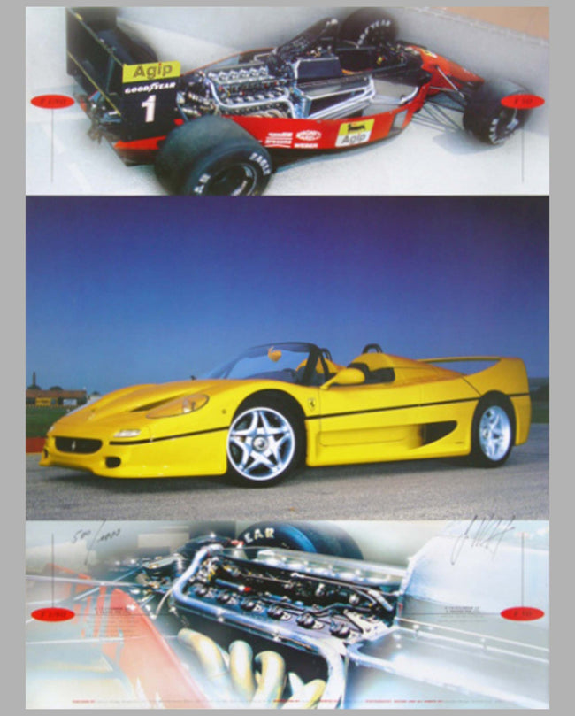 Ferrari F1/90 & F50 promotional poster by Gunther Raupp