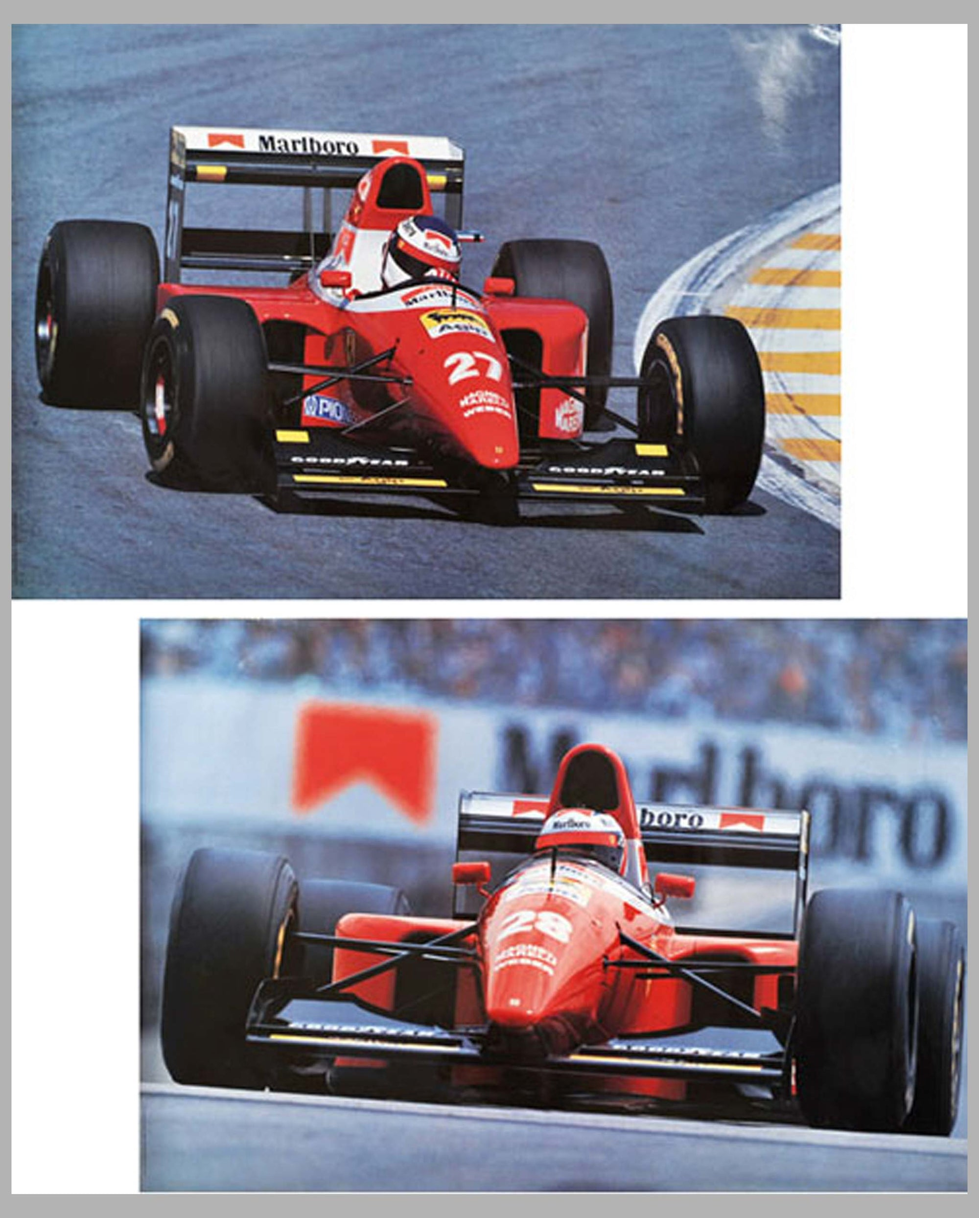 Ferrari Formula One original factory posters, by Daniele Amaduzzi, Italy, 1993, lot of 2