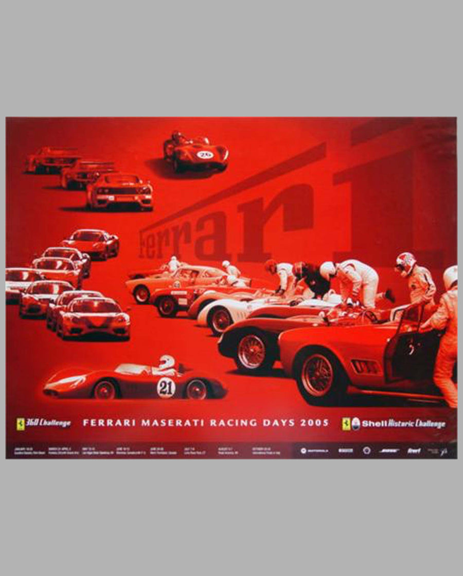 Ferrari & Maserati Racing Days 2005 official event poster