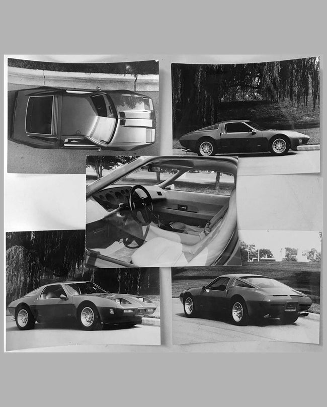 Five Pininfarina period b&w press photos