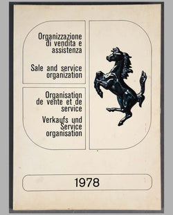 Ferrari Sales and Service Organization, 1978