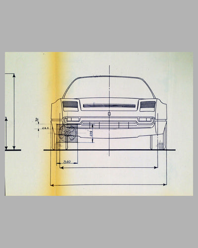 Ferrari 208-308 GTB factory original blueprint
