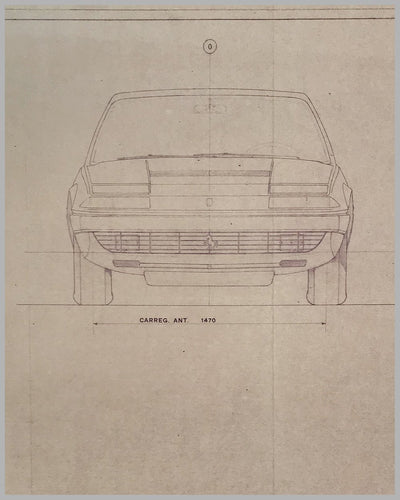 Ferrari 365 GT4 Carrozzeria Pininfarina original working blueprint 4