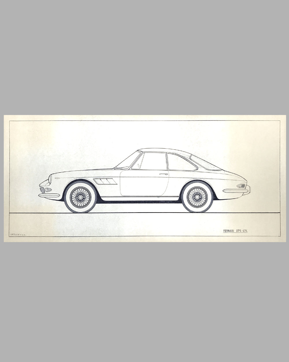 Ferrari 275 GTC original factory blueprint