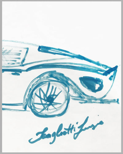 Ferrari 250 GTO magic marker sketch by Sergio Scaglietti 2