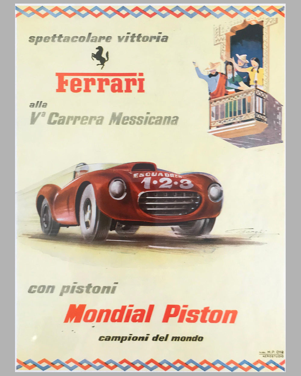 Ferrari and Mondial Piston ad in Motor Italia magazine