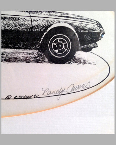 Ferrari Pinin etching by Randy Owens 2