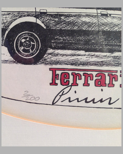 Ferrari Pinin etching by Randy Owens 3