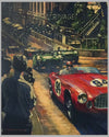 """Ferrari's Monaco"" Acrylic Painting on Canvas by Barry Rowe 2"