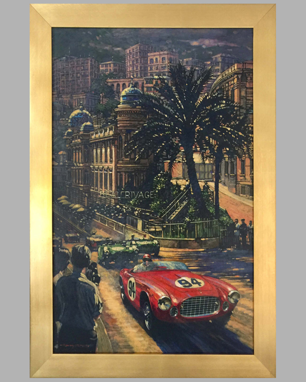 Ferrari's Monaco, Acrylic Painting on Canvas by Barry Rowe
