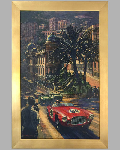 """Ferrari's Monaco"" Acrylic Painting on Canvas by Barry Rowe"
