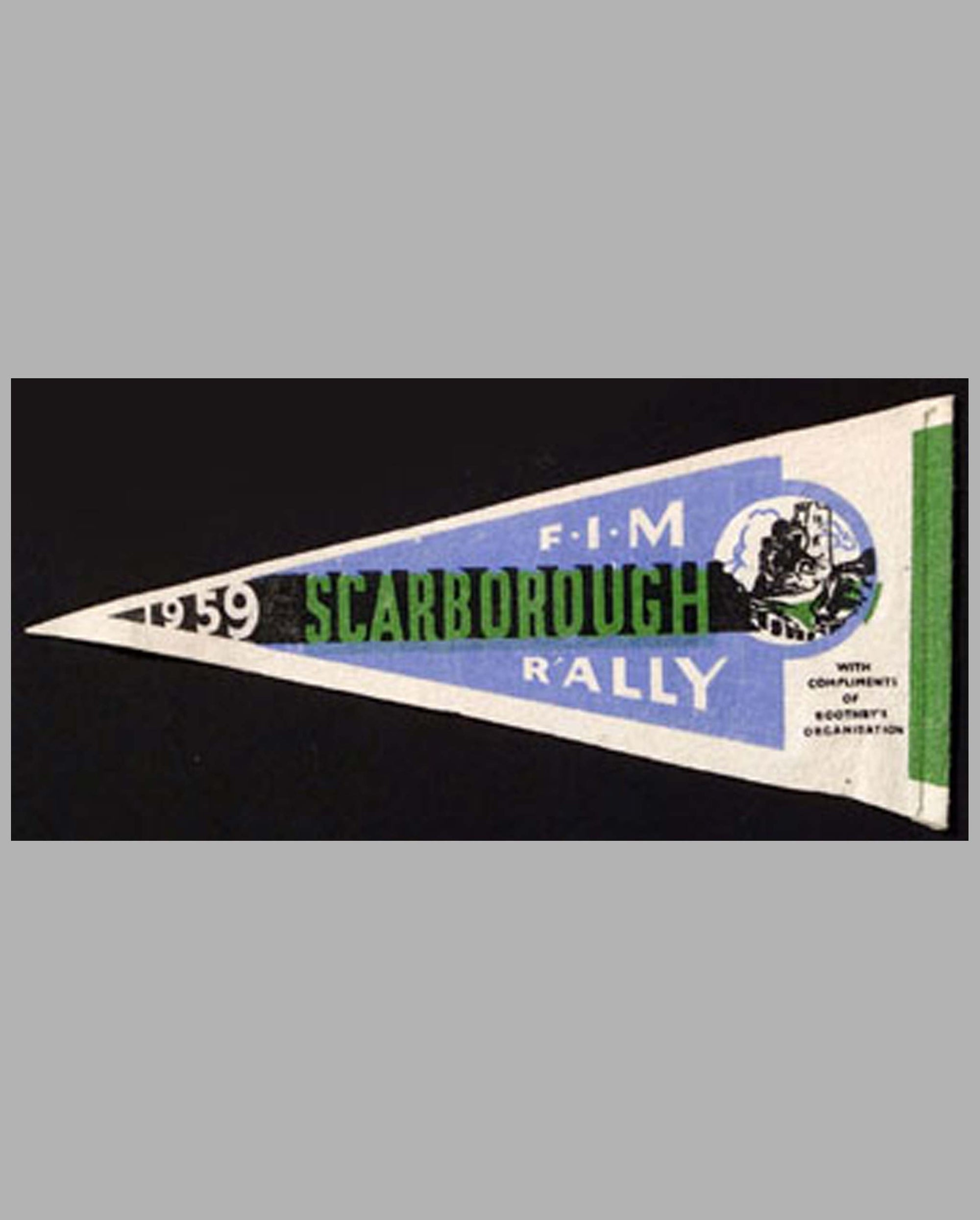 FIM Scarborough Rally 1959 pennant