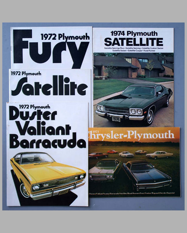 Five 1970's Plymouth color catalogs