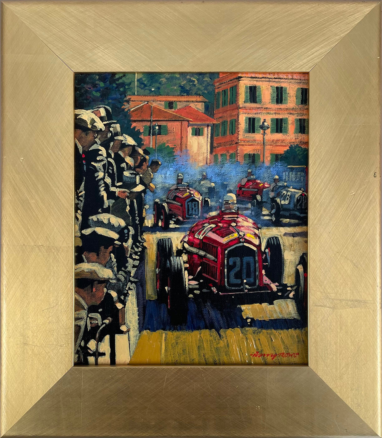Flying Start Monaco Grand Prix 1934 oil painting by Barry Rowe
