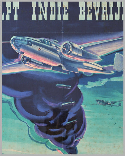 ca. 1942 poster, Flying Hollanders Help Liberate India, by P. Brand, Netherlands 2