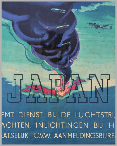 ca. 1942 poster, Flying Hollanders Help Liberate India, by P. Brand, Netherlands 3